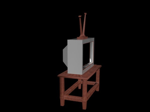 3D model tv stand table