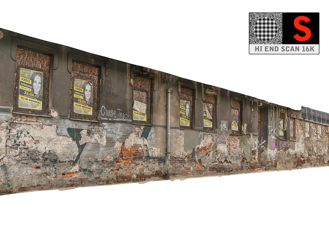 facade street abandoned 3D