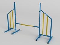 dog agility jump 3D model