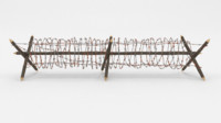 3D model barbed wire obstacle