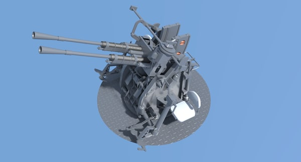 japanese machine gun 3D model