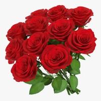 rose bouquet 11 3D model