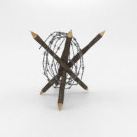 3D barbed wire obstacle