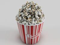 3D popcorn bucket