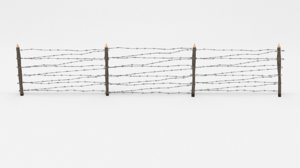 barbed wire obstacle 3D model