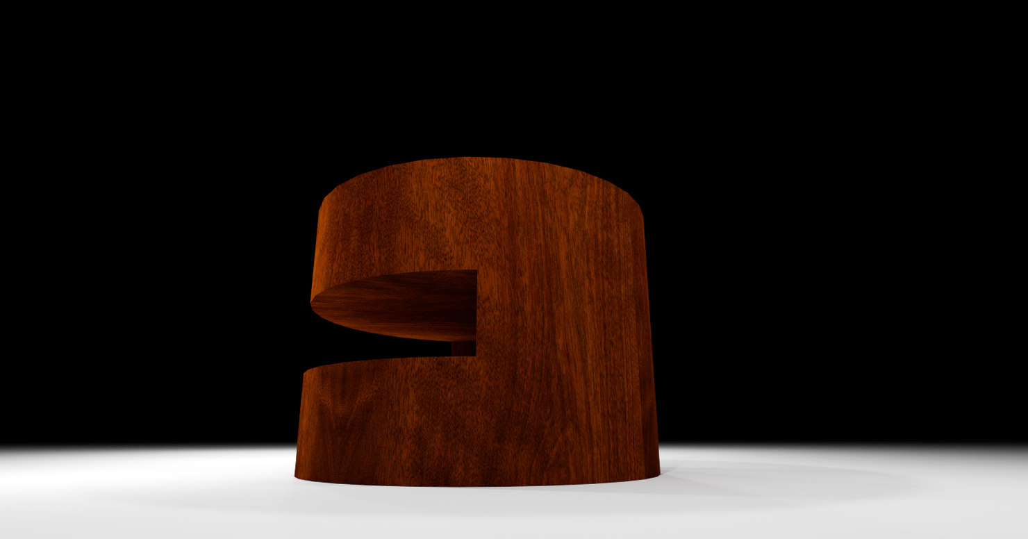 3D stump table model