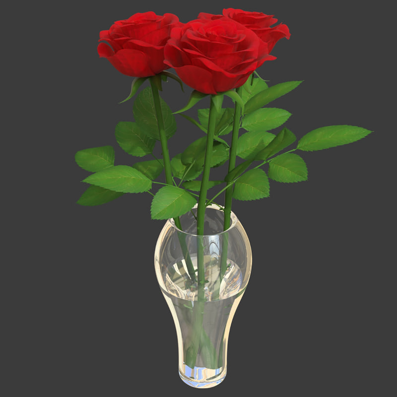 3D model rose bouquet 3