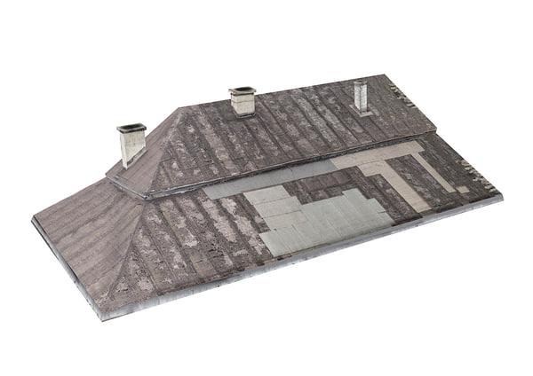 wooden roof scan 8k 3D model