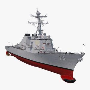 arleigh burke destroyer decatur 3D model