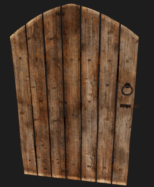 old wooden door model