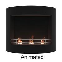 bio fireplace 3D model