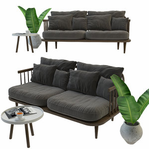 3D fly sofa andtradition set