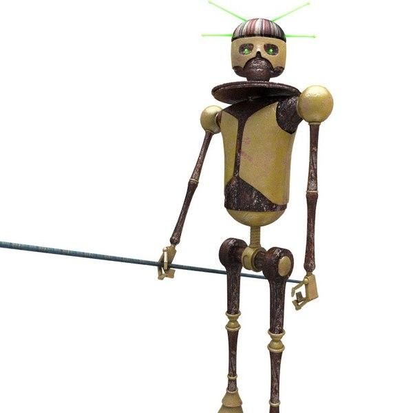 sci-fi robot - skeleton 3D model
