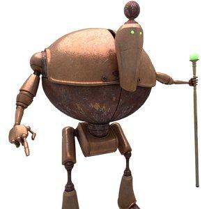 sci-fi priest robot - 3D