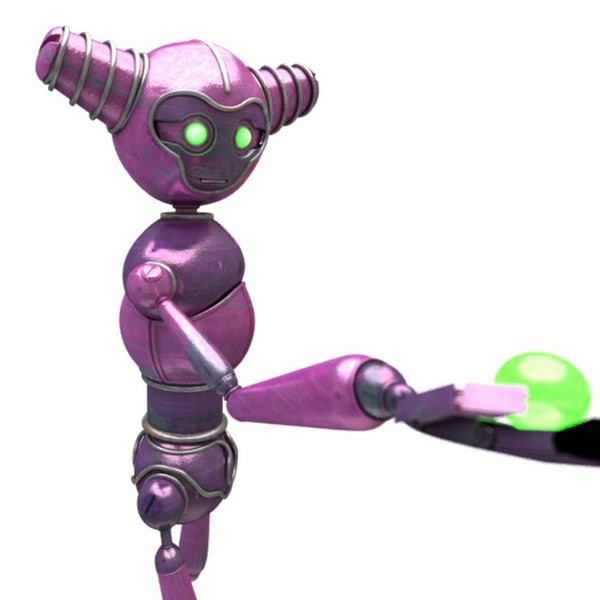 3D sci-fi personal robot 12 model