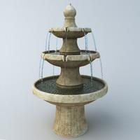 fountain garden exterior model