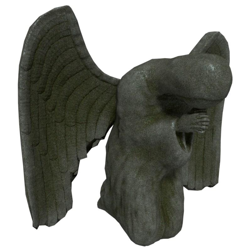 angel statue 3 3D model
