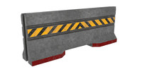 concrete barrier 3D