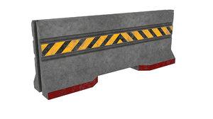 concrete barrier 3D