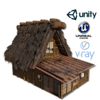 shirakawago village set house 3D model