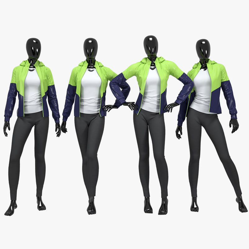 3D female fitness sport suit