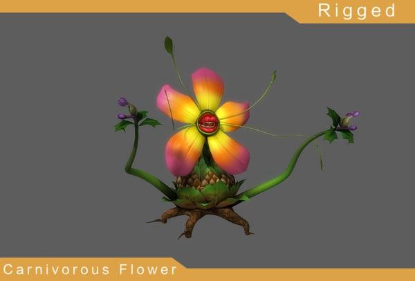 3D carnivorous flower model