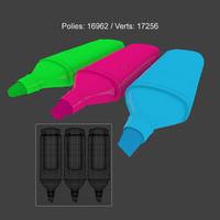 3D highlighter pens stationary
