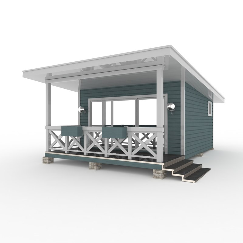 rest house american 3D model