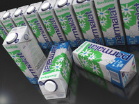 milk juice carton 3D