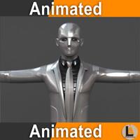 robotic businessman model