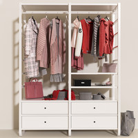 Wardrobe IKEA Elvarli with clothes