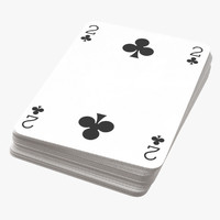 3D playing cards blue deck