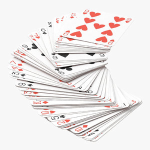 playing cards blue deck model