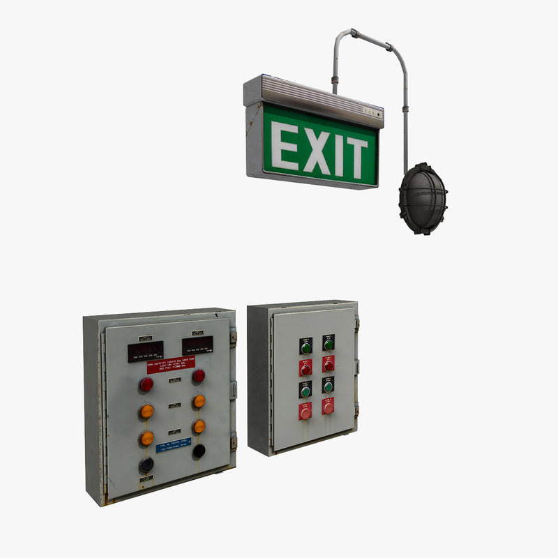 3D props: exit light control model