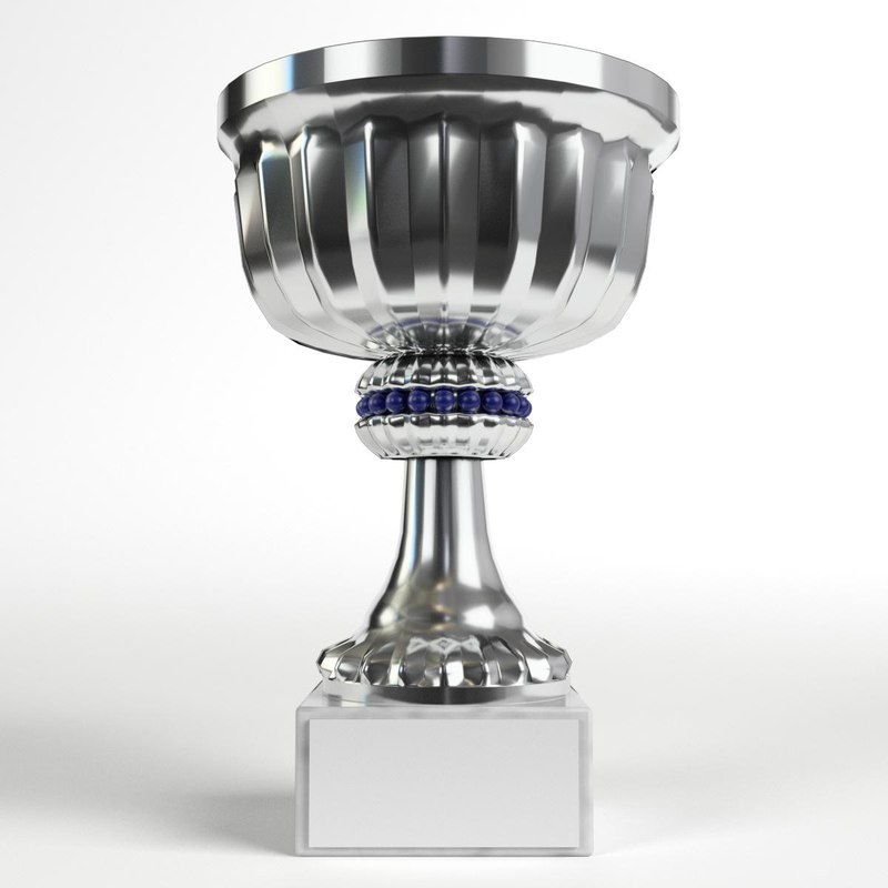 3D small trophy cup 1 model
