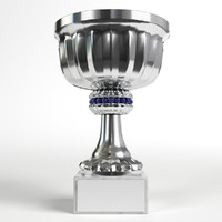 3D small trophy cup 1 model