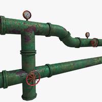 props: water pipes systems model