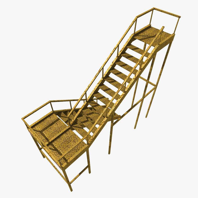props: metal ladder 3D model