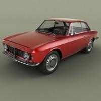 3D model 1963 alfa romeo giulia