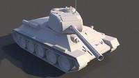 Tank T-34-85. Low Poly model.