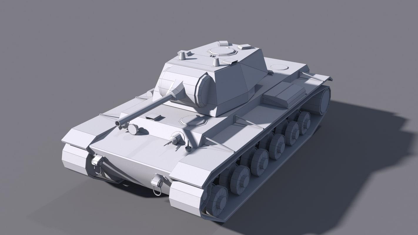 3D tank kv-1 l-11 model