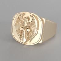 ring print gold 3D model