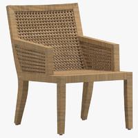 3D model chair 122