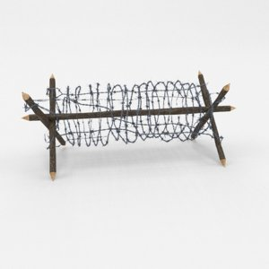 3D barbed wire obstacle 2 model