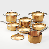 3D model cookware copper