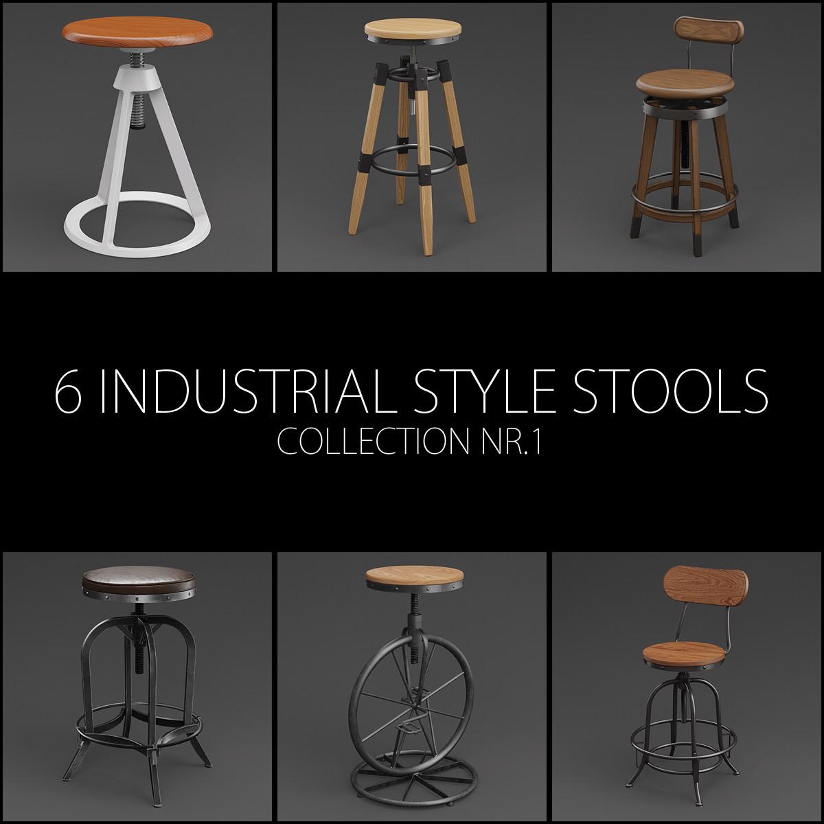 3D 6 adjustable height industrial