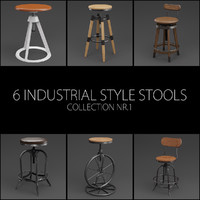 3D 6 adjustable height industrial