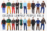 Colored Lowpoly People Vol.6