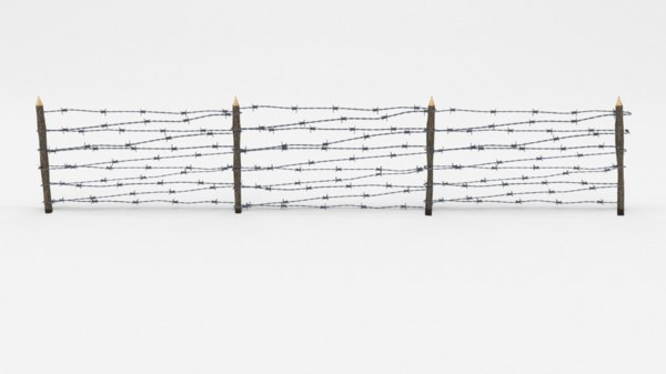 3D barbed wire obstacle model