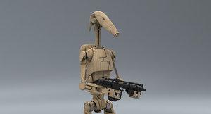 3D model b1 battle droid rifle